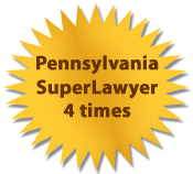 Our Bloomsburg Law Office was awarded the Pennsylvania SuperLawyer 4 times
